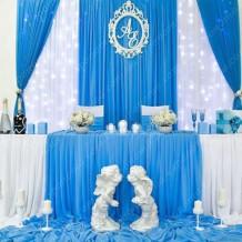 """Оформлення весільного залу """"Аморе Блу"""""""