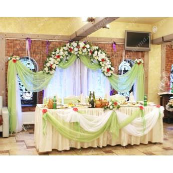 """Оформлення весільного залу """"Салатовий-1"""" для 50 гостей"""