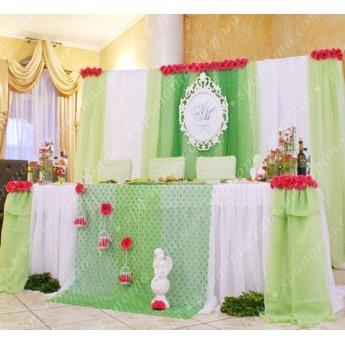"""Весільний декор залу """"Light-Green-4"""""""