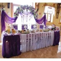 """Оформлення весільного залу """"Омбре Віолет"""" для 50 гостей"""